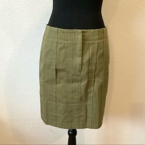 Earthy Green Mini Pencil Skirt
